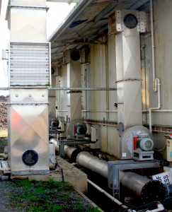 Ventilations, heating and water pumps that make it all possible.