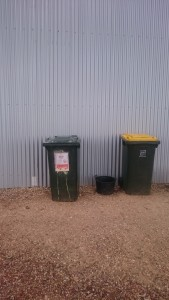 Bins near the cellar door