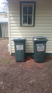 Bins at the main house